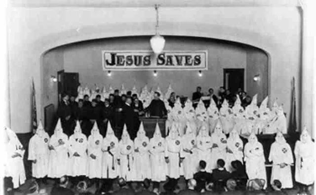 Funny KKK Ku Klux Klan Jesus Saves Church Scary Joke Picture