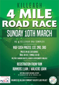 4 mile race in East Cork... Sun 10th Mar 2019