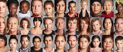 Diferite fețe de oameni - imagine preluată de pe site-ul www.mywallpaper.top