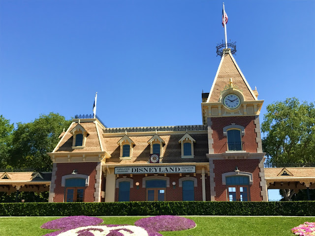 Front of Disneyland and Train Station