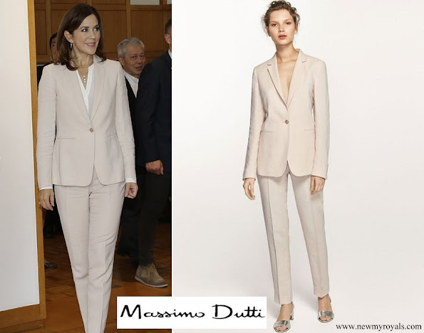 Crown Princess Mary wore Massimo Dutti Blazer and Trouser