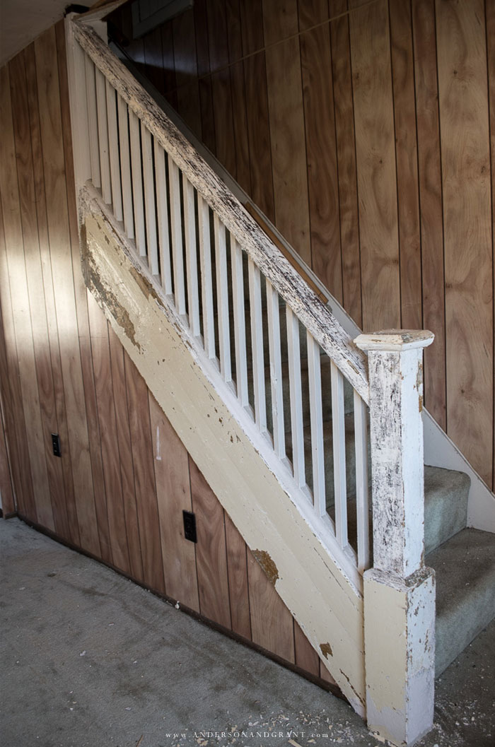 Removing paint on staircase