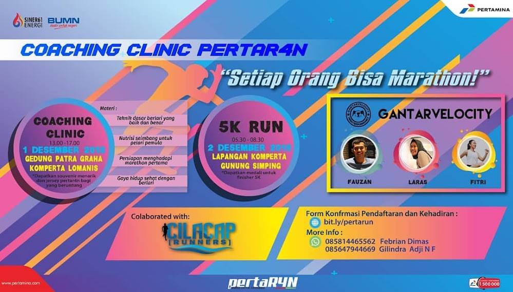 PERTAR4N Coaching Clinic & 5K Run • 2018