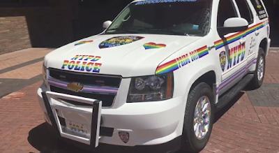 NYPD car, Gay Pride 2018
