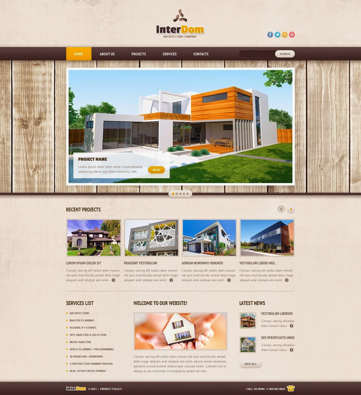 thiết kế website kiến trúc xây dựng đẹp