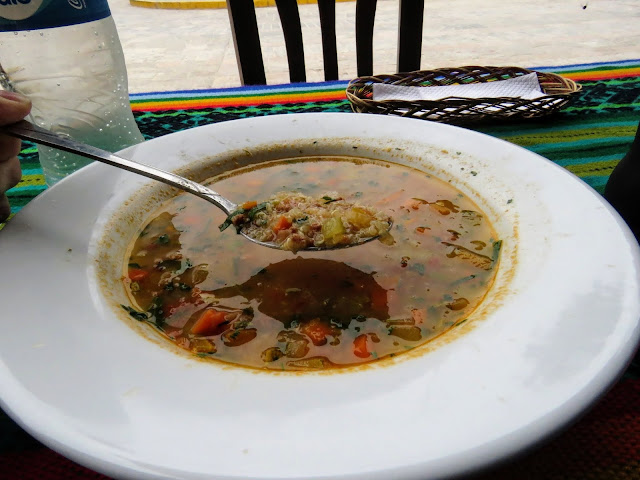 Quinoa soup is a popular dish in Ollantaytambo Peru