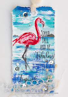 Layers of ink - Flamingo Tag Tutorial by Anna-Karin Evaldsson