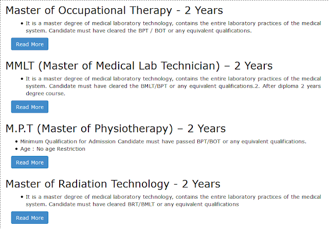 Master Degree Courses We Offer at Om Sai Para Medical Institute