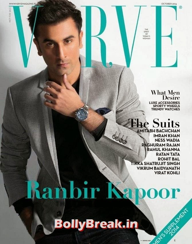 Ranbir Kapoor, Bollywood Actors Hot & Sexy Pics on Magazine Covers