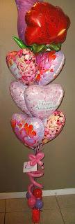Floating Foil Valentine balloons