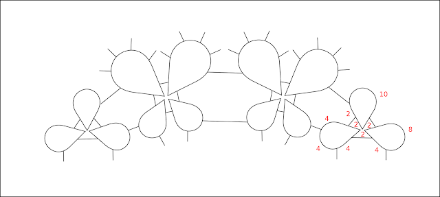 Tatting diagram - schema chiacchierino
