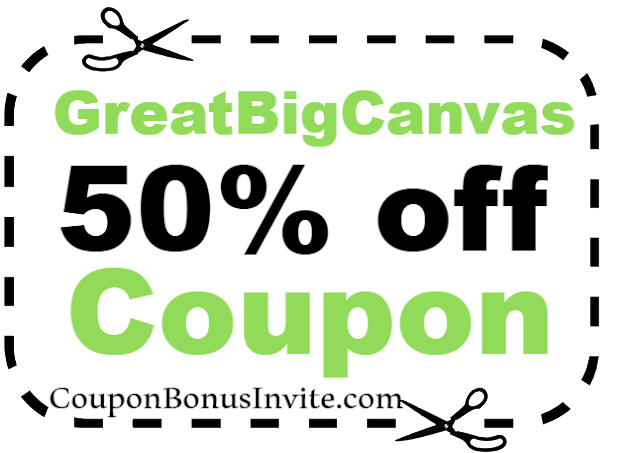 50% off GreatBigCanvas Discount Coupon Code 2021 Jan, Feb, March, April, May, June, July