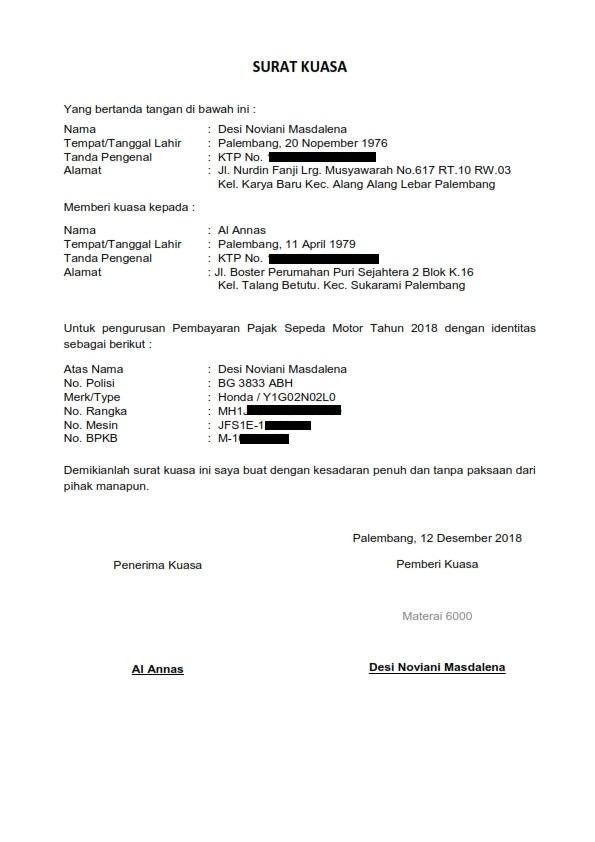 Komik Komputer Informasi Contoh Surat Kuasa Untuk
