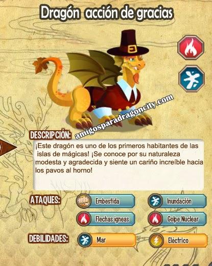 imagen de las caracteristicas del dragon accion de gracias