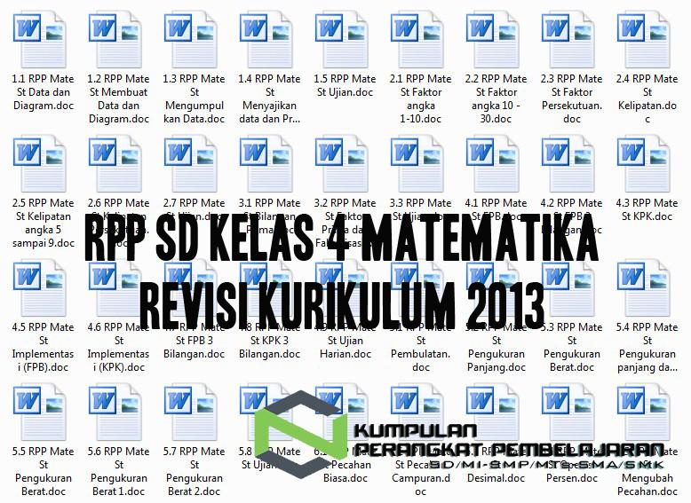 Rpp Sd Kelas 4 Matematika Revisi Kurikulum 2013 Perangkat Pembelajaran