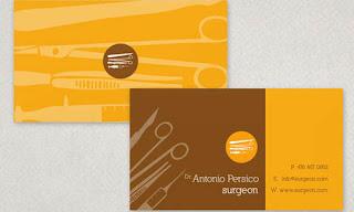 thiết kế card visit bác sĩ