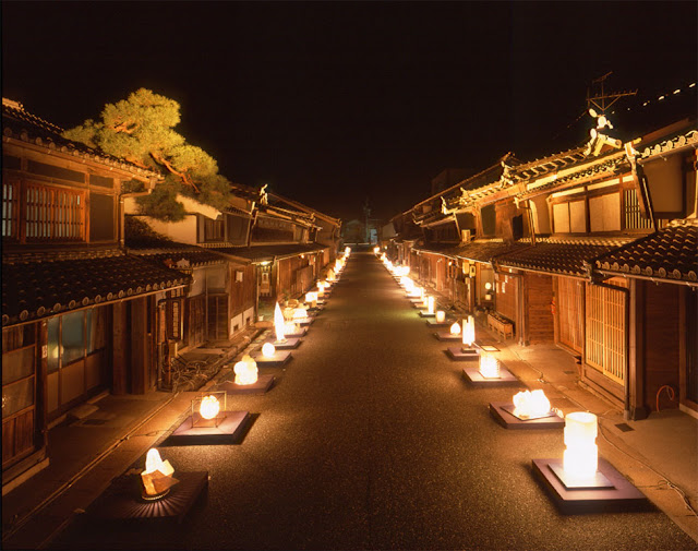 Lighting Festival with Mino Japanese Papers, Mino City, Gifu Pref.