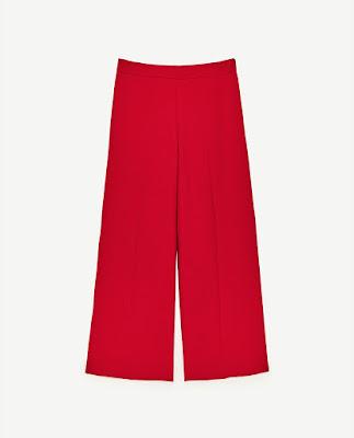 Immagine di pantaloni rossi Zara
