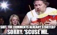 gordo con pop pasando en el cine para ver los comentarios