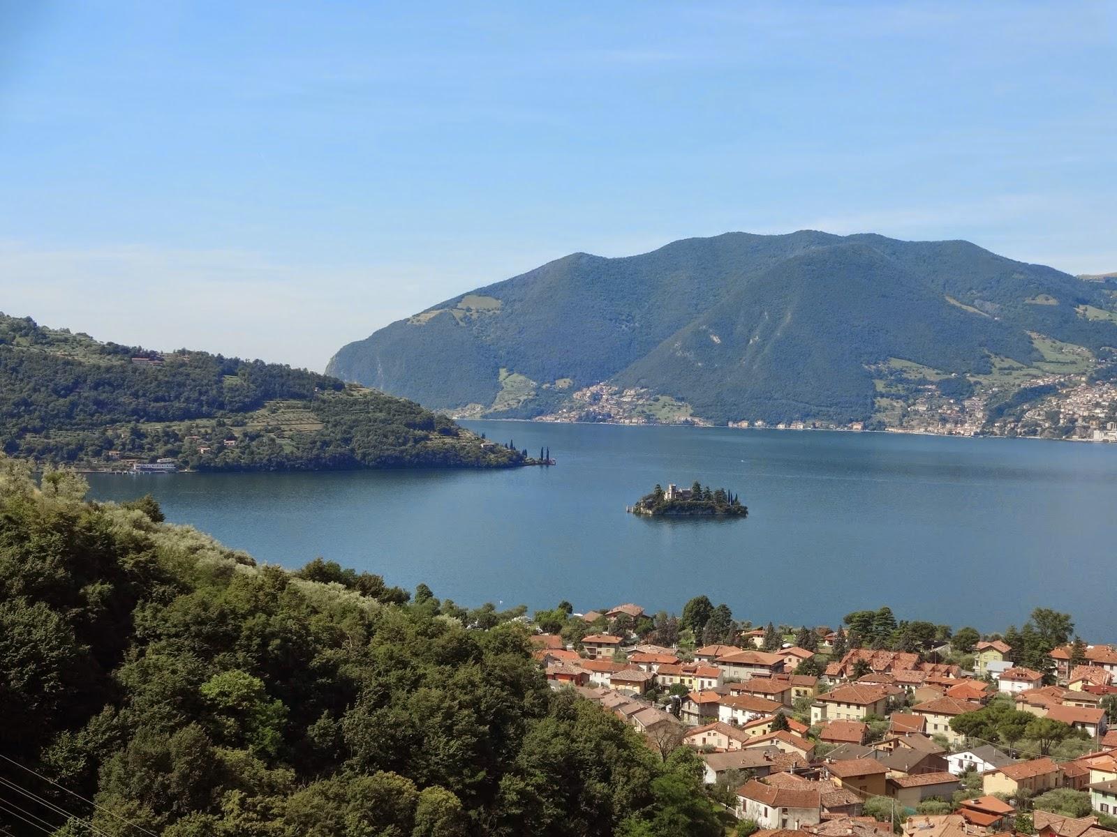 озеро в италии