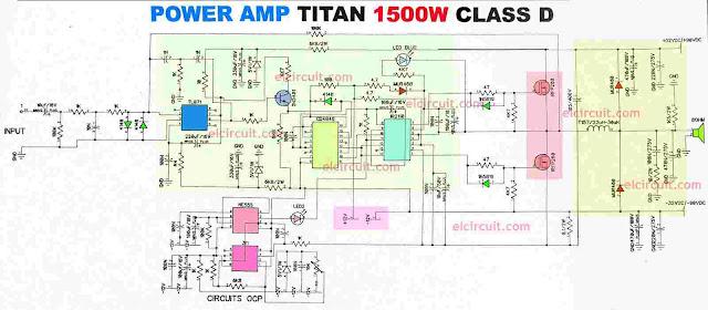 High Power Amplifier Circuit Diagram Class D titan