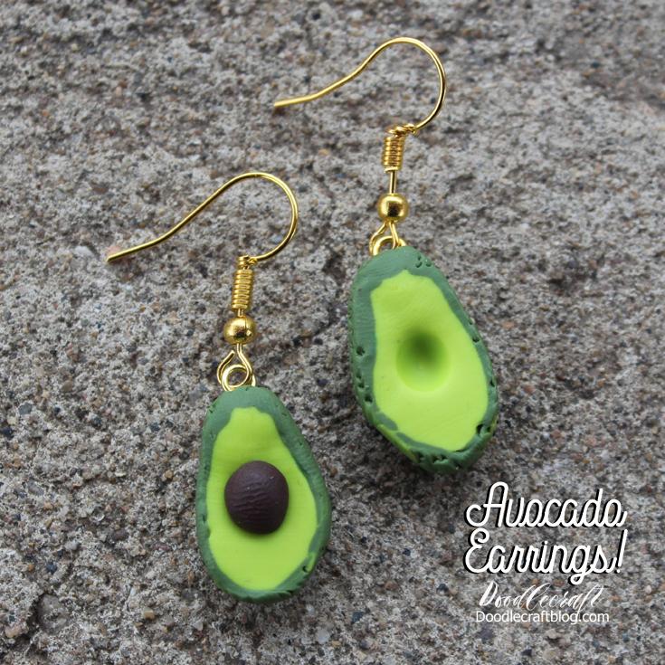 Doodlecraft: Avocado Earrings!
