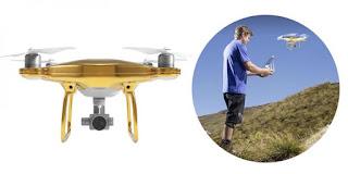 Drone DJI Phantom 4 Gold Edition dilapisi emas 24 karat