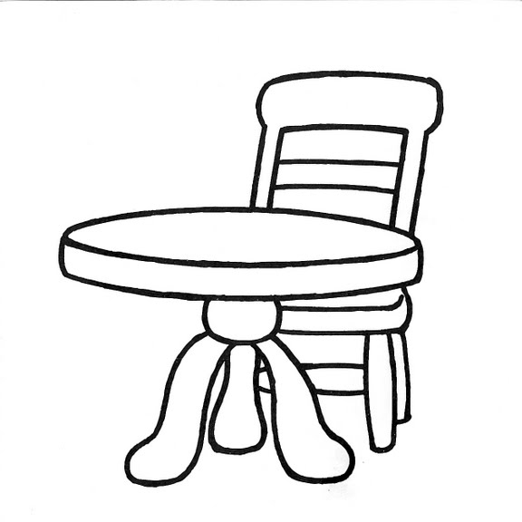Dibujos Infantiles Dibujo Infantil Mesa Y Silla