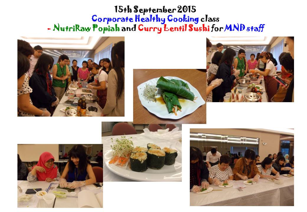 Corporate Healthy Cooking class @ MND by Vinitha