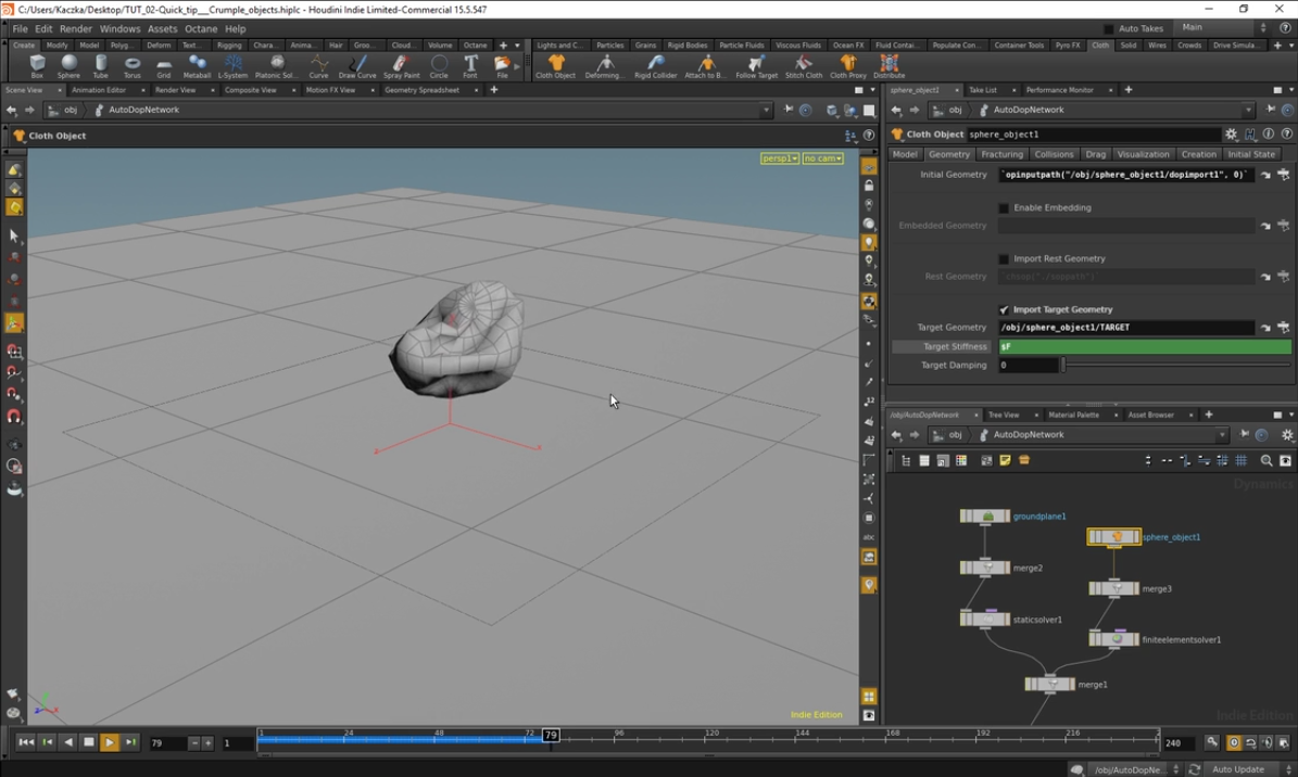 Simulate A Crumple Effect With Houdini | CG TUTORIAL