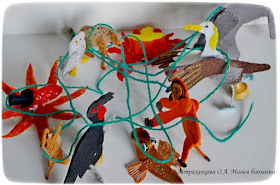 Пальчиковый театр -магия биологии- осьминог, орангутан, галапагосский альбатрос, краб, кафрский ворон, сурикат, сова, слон