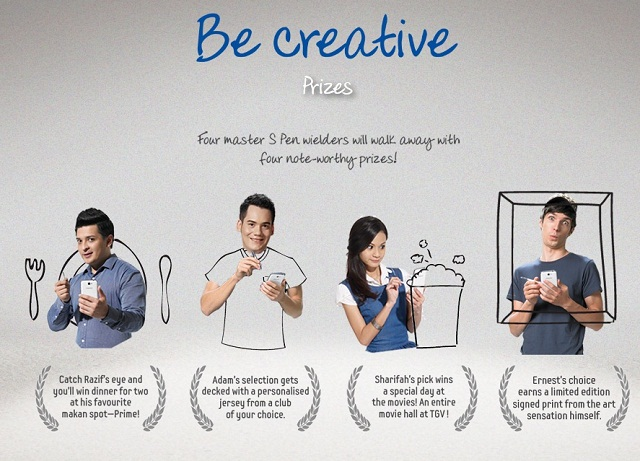 Win cool prizes from the Samsung Galaxy Note 2 Be Creative and Win Contest