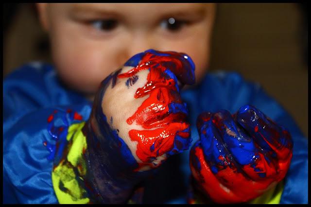peinture doigt enfant