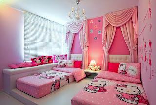 Gambar Kamar Hello Kitty Warna Pink 3