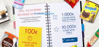 Logo Concorso Nestlè : vinci buoni spesa da 100, 1.000 e 10.000 euro