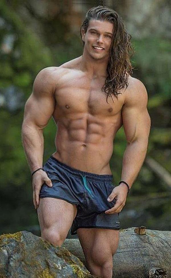 BUILT by tallsteve: Cute, Muscles, Long Hair