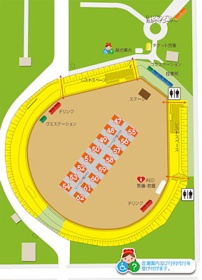 Baseball Diamond Venue Map 野球場会場地図