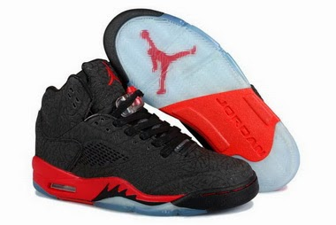 various colors 8bfe1 146ae This time, check the photo, update two new color replica air jordans 5 v  shoes. Black red, grey ...