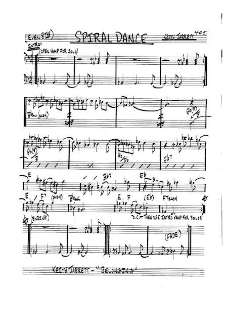 Partitura Bajo Keith Jarrett