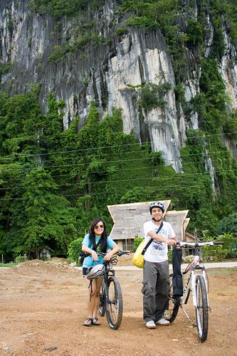 Biking around El Nido Palawan Philippines