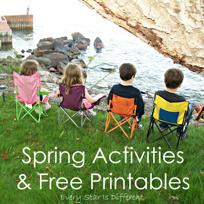 Spring learning activities and free printables for kids.