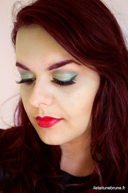 maquillage simple inspirée de Poison Ivy