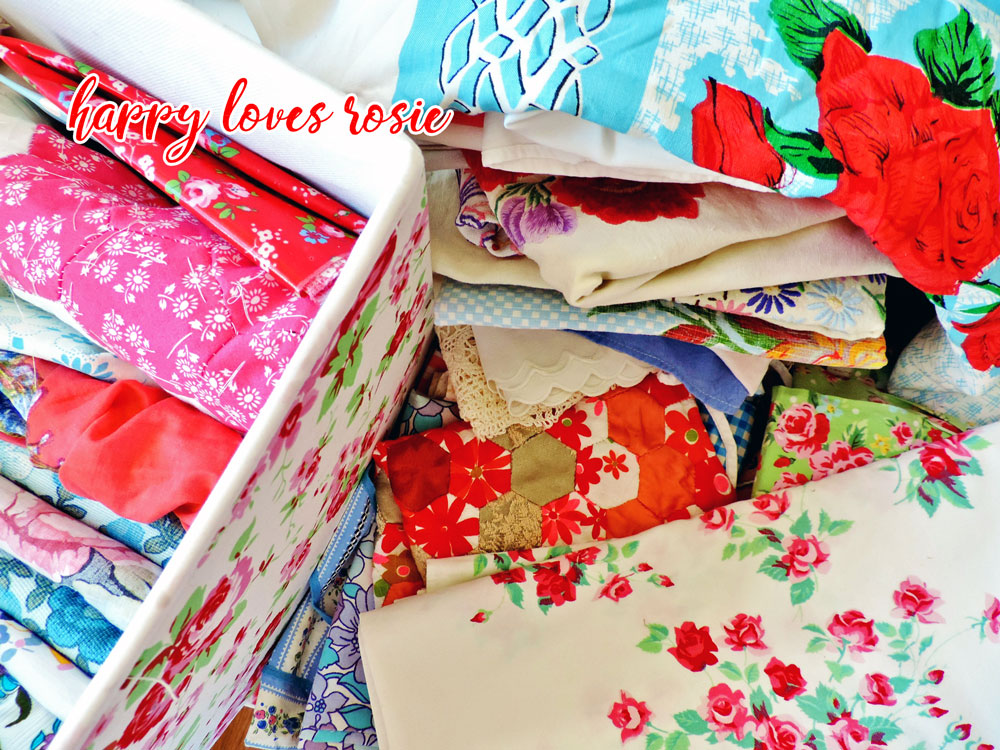 vintage material textiles