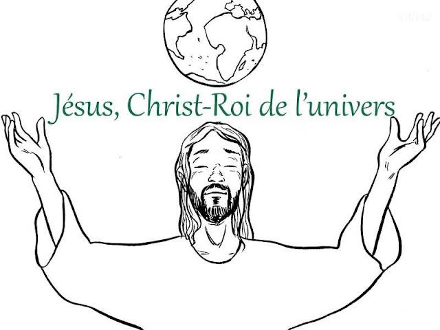 Christ-Roi : coloriages et jeux