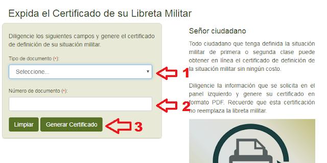 certificado de libreta militar colombia