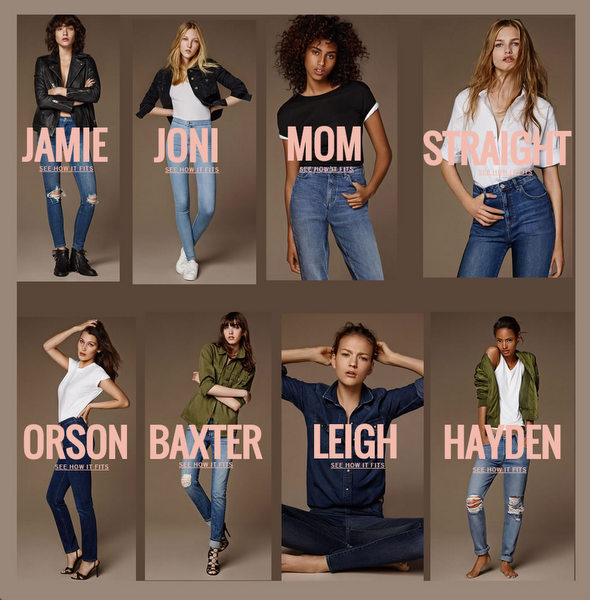 Nine Supermodel Icons - Nine Iconic Jeans