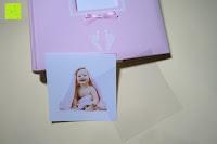 Motiv und Folie: Levivo Baby Fotoalbum für 200 Fotos, Classic, Rosa
