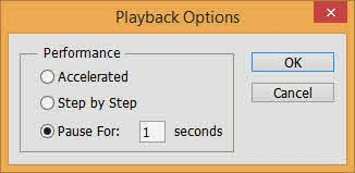 Playback Options dialog