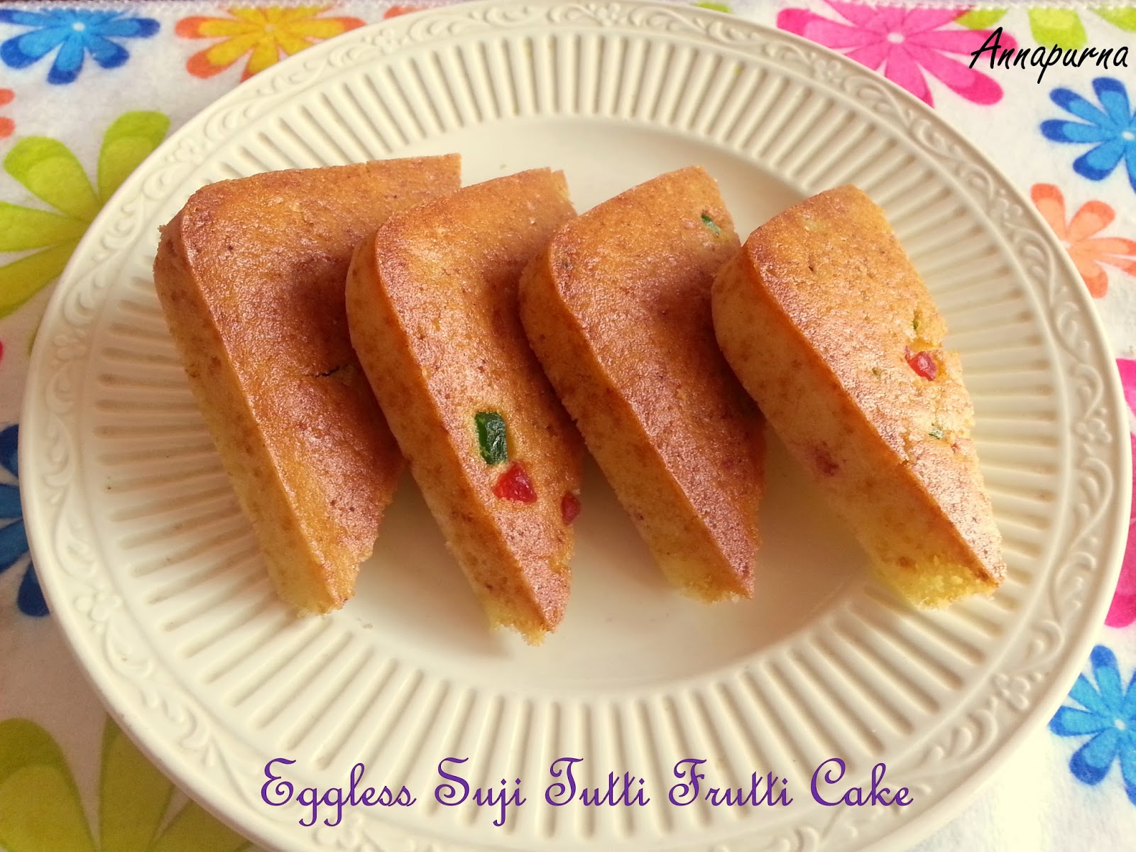 Indian food recipes indian recipes desi food desi recipes suji cake is a delicious and healthy indian cake and is very easy to make at home an eggless butter less cake with loads of tutti frutti making it all forumfinder Image collections