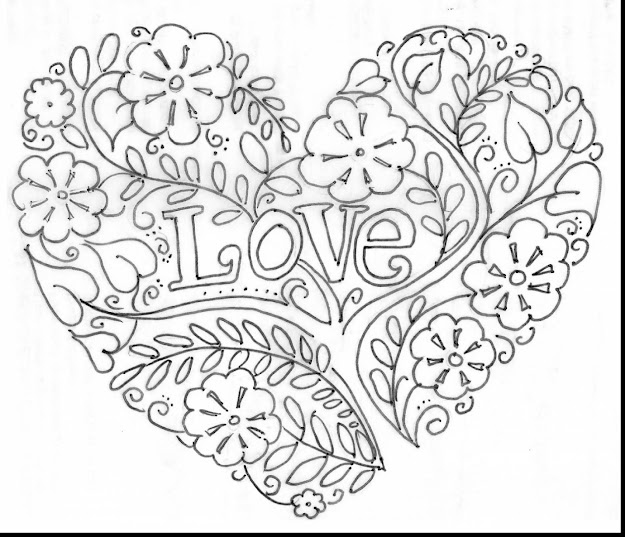 Brilliant Valentine Heart Coloring Pages Adults With Hearts Coloring Pages  And Heart Coloring Pages Pinterest